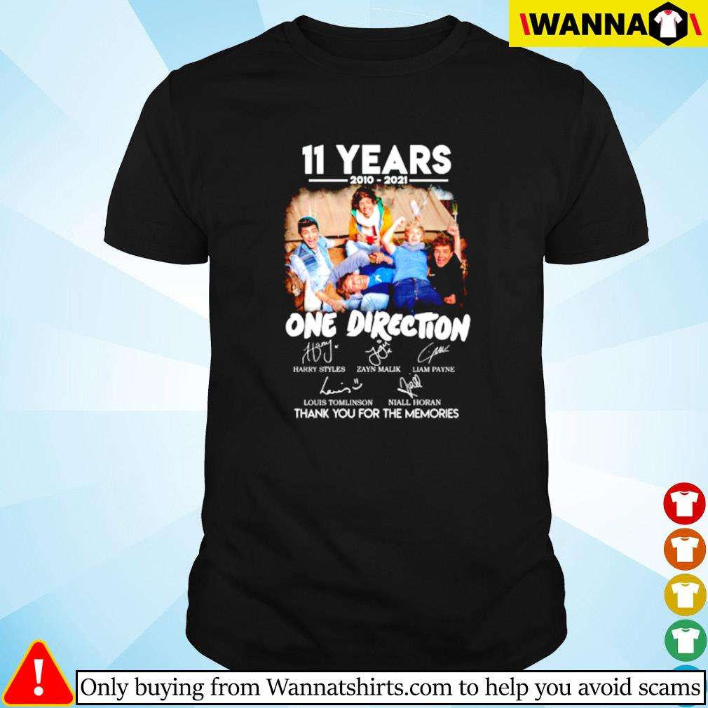 11 Years of 2010-2021 One direction thank you for the memories shirt