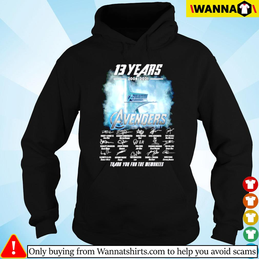 13 Years of Avengers 2008-2021 thank you for the memories s Hoodie