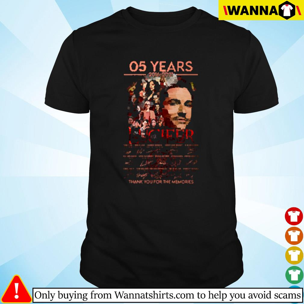 05 Years of Lucifer 2016-2021 signature shirt