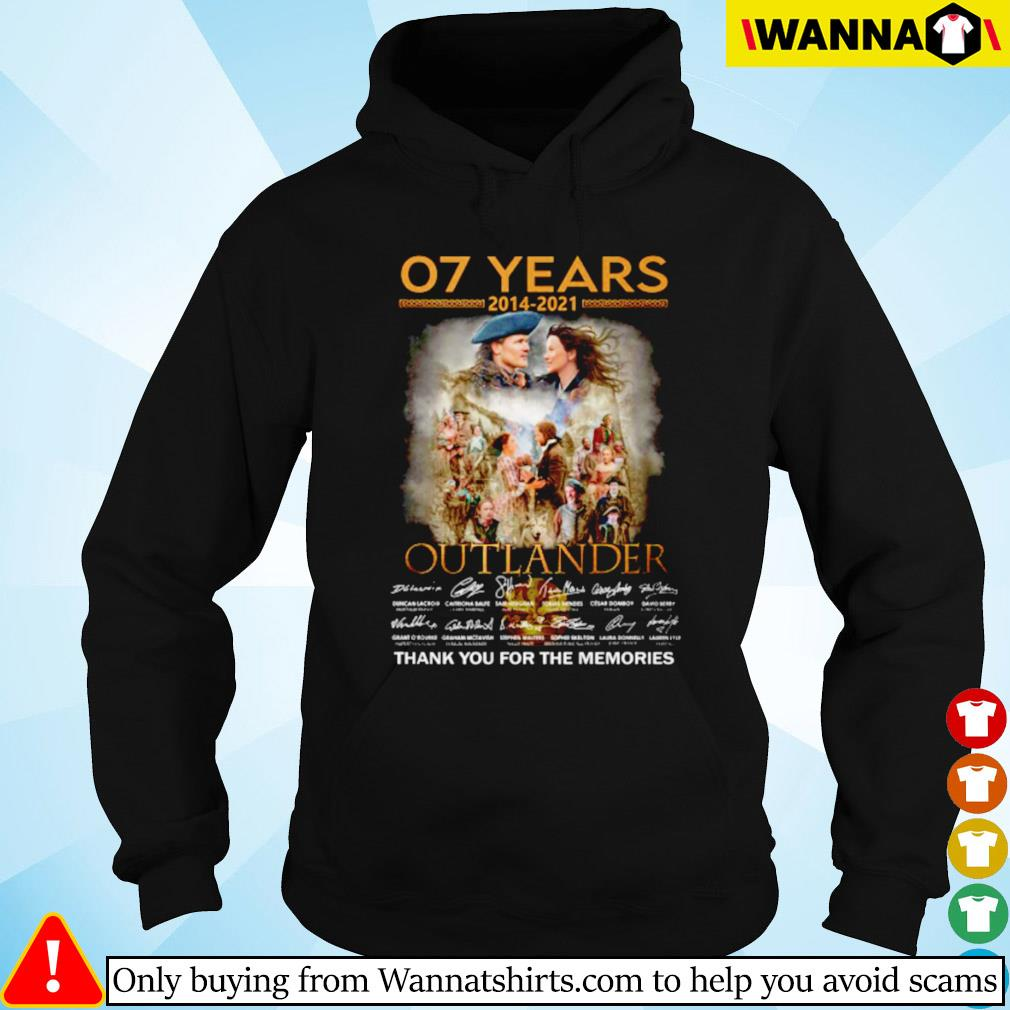 07 Years of Outlander 2014-2021 signature Hoodie
