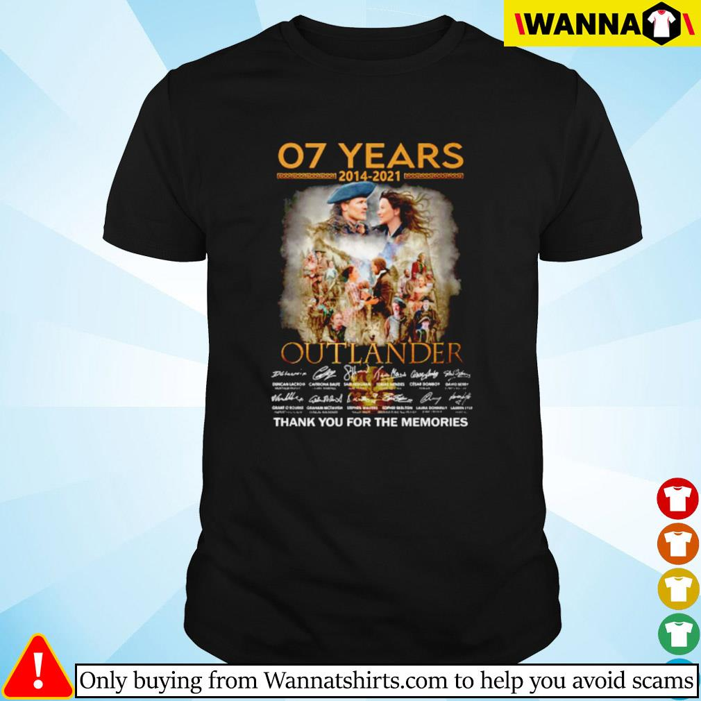 07 Years of Outlander 2014-2021 signature shirt