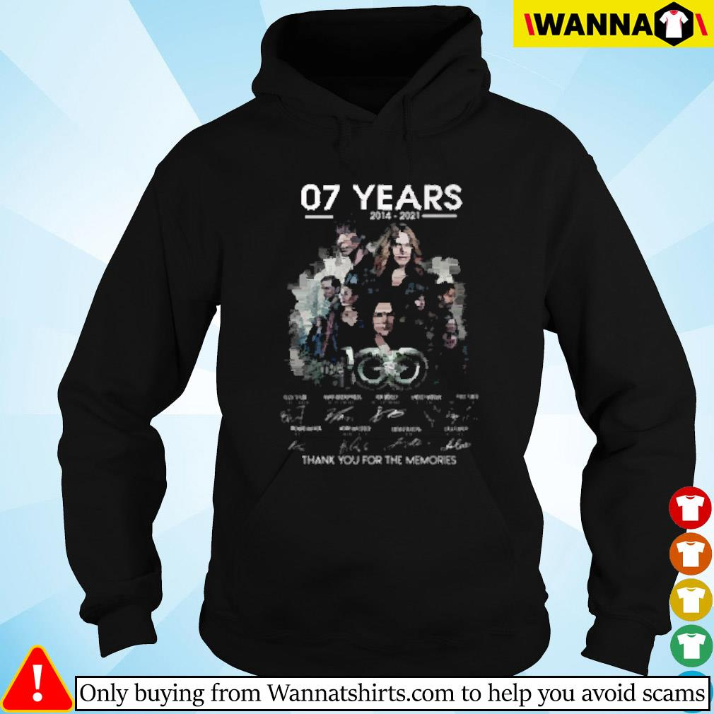 07 Years the 100 2014-2021 thank you for the memories signature Hoodie