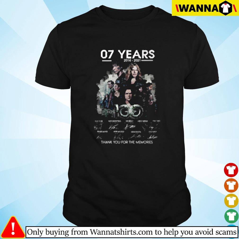 07 Years the 100 2014-2021 thank you for the memories signature shirt