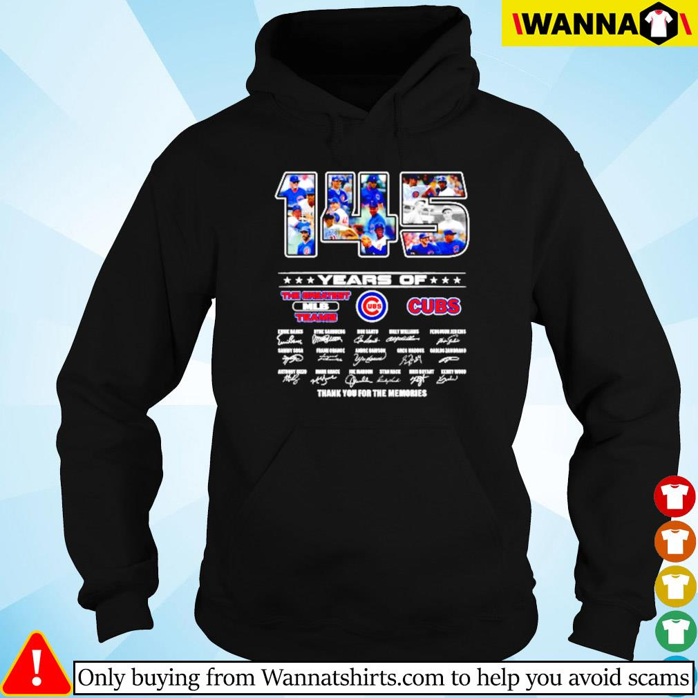 145 Years of Chicago Cubs the greatest MLB teams signature s Hoodie