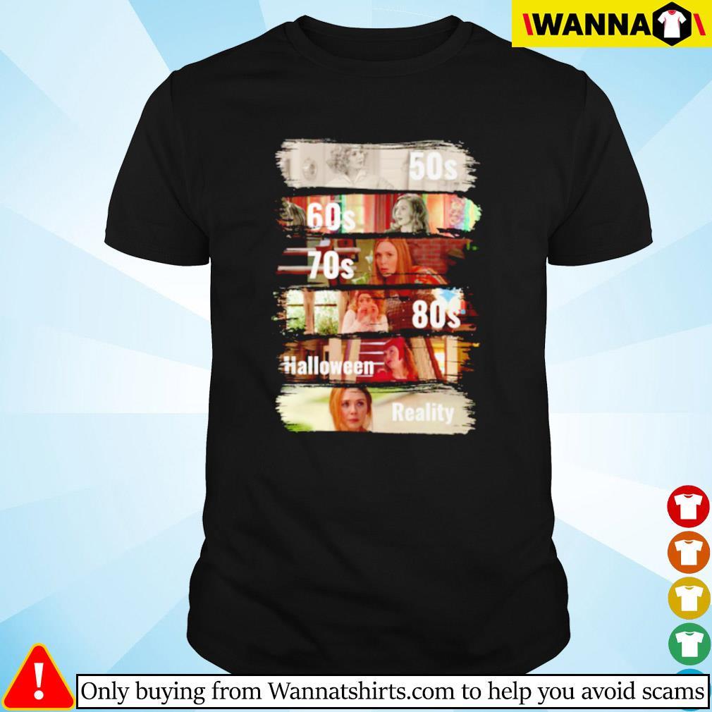 Wanda Maximoff 50s 60s 70s halloween reality shirt