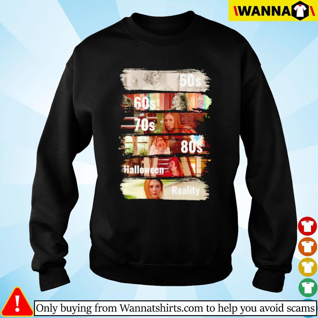Wanda Maximoff 50s 60s 70s halloween reality Sweater