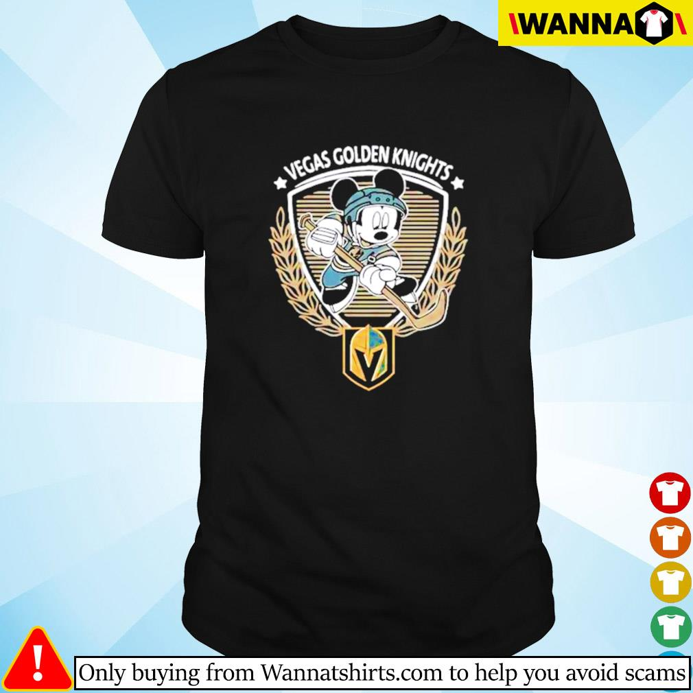 Begas Golden Knights Mickey Mouse shirt