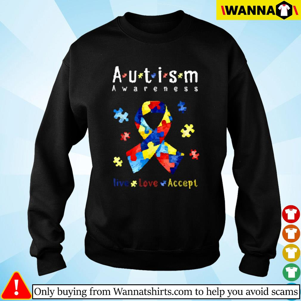 Breast cancer autism awareness live love accept Sweater