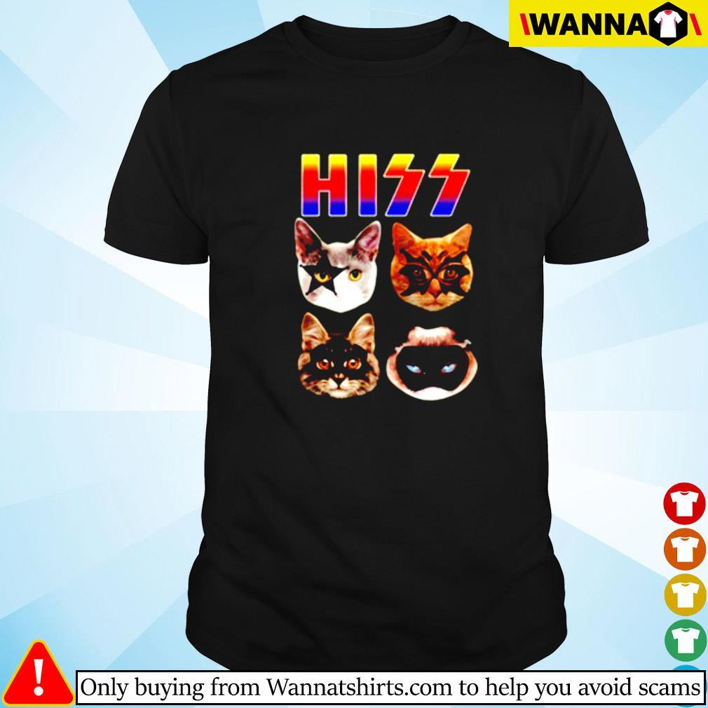 Cat hiss kiss band shirt