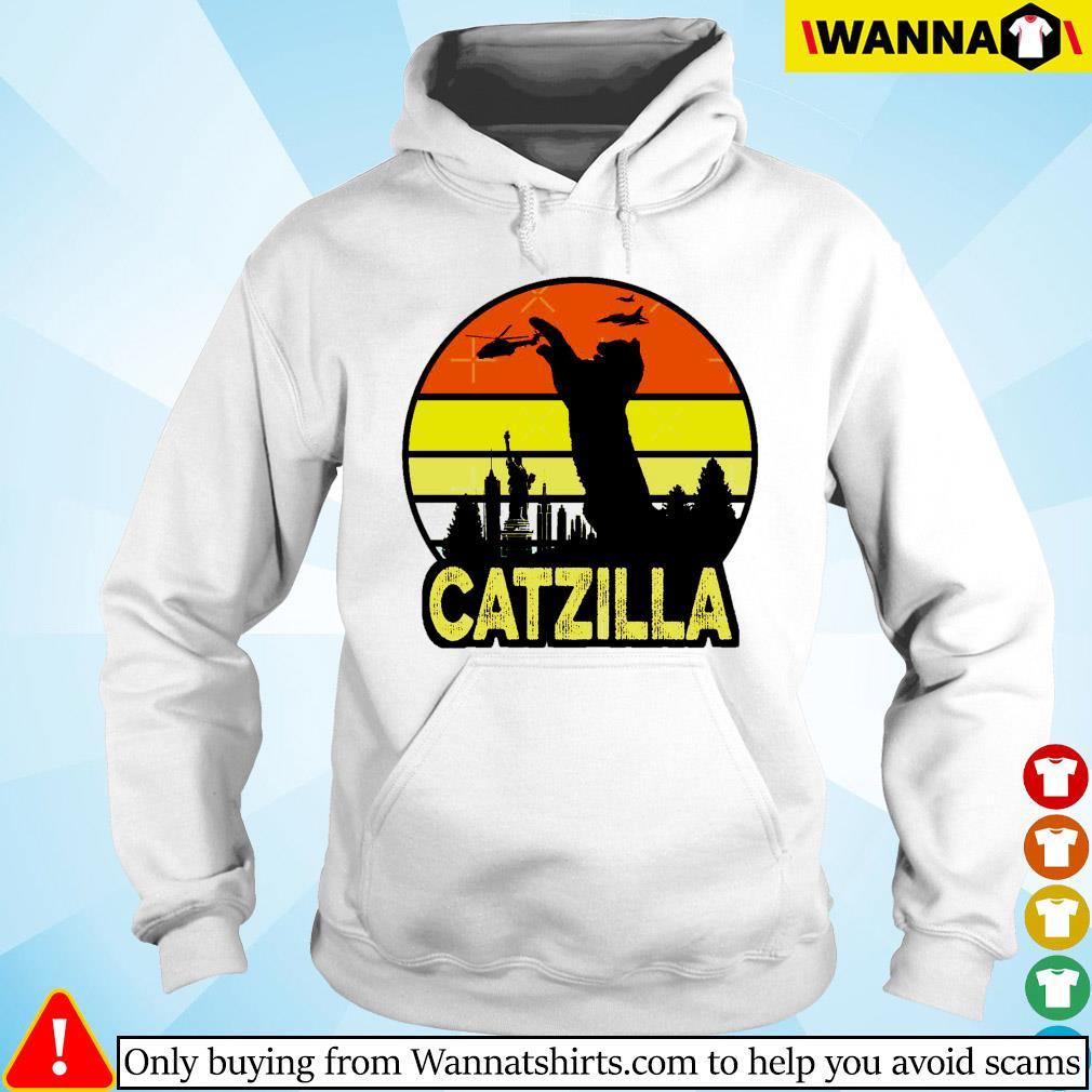 Catzilla in New York vintage Hoodie