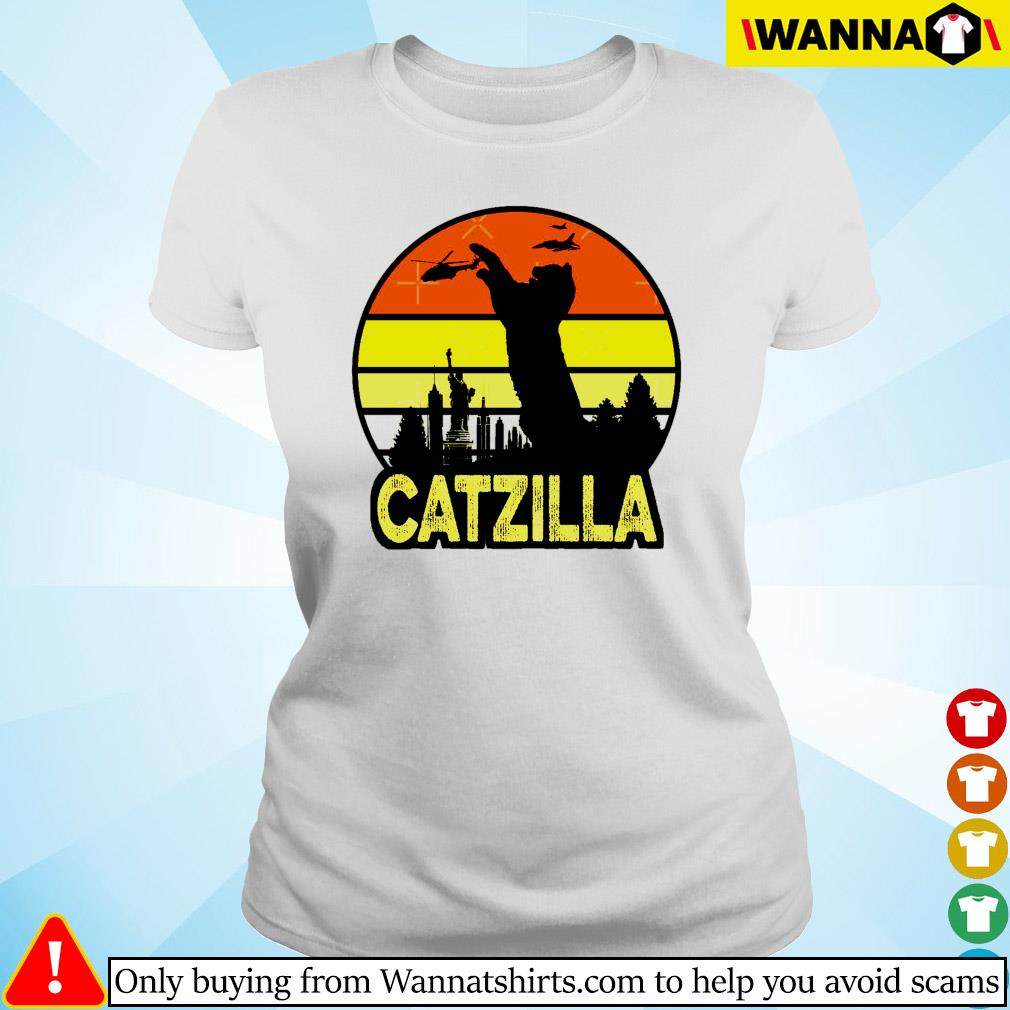 Catzilla in New York vintage Ladies tee
