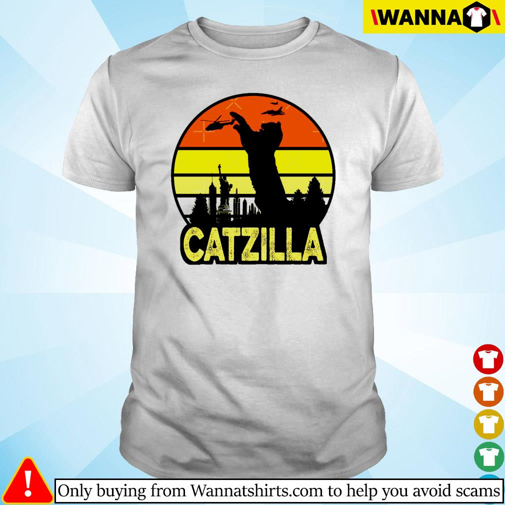 Catzilla in New York vintage shirt