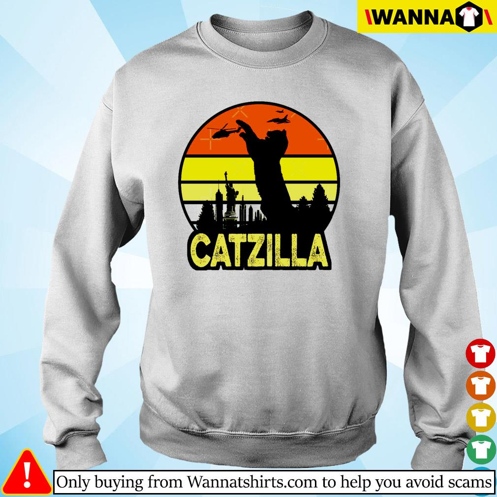 Catzilla in New York vintage Sweater