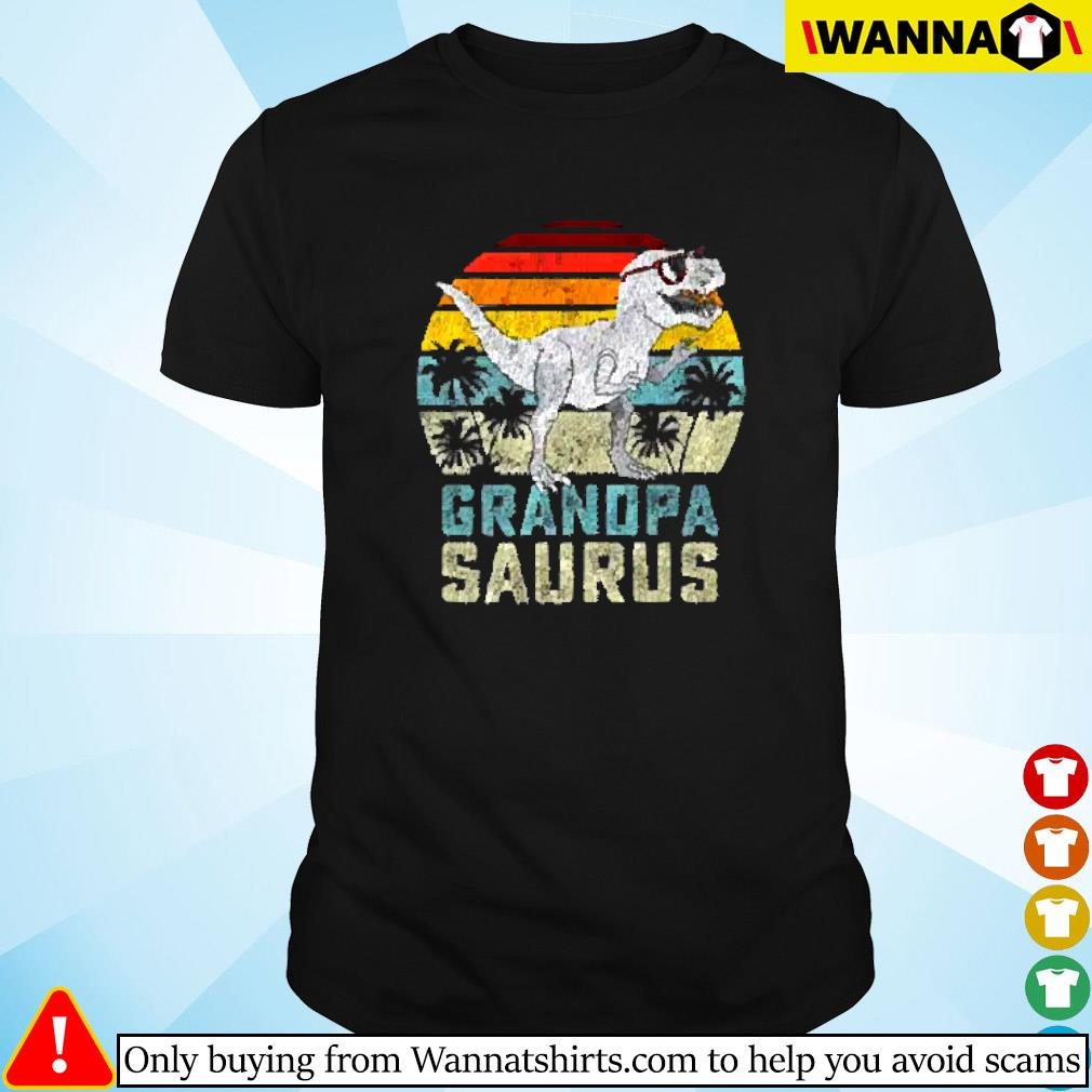 Dinosaur grandpa saurus vintage shirt