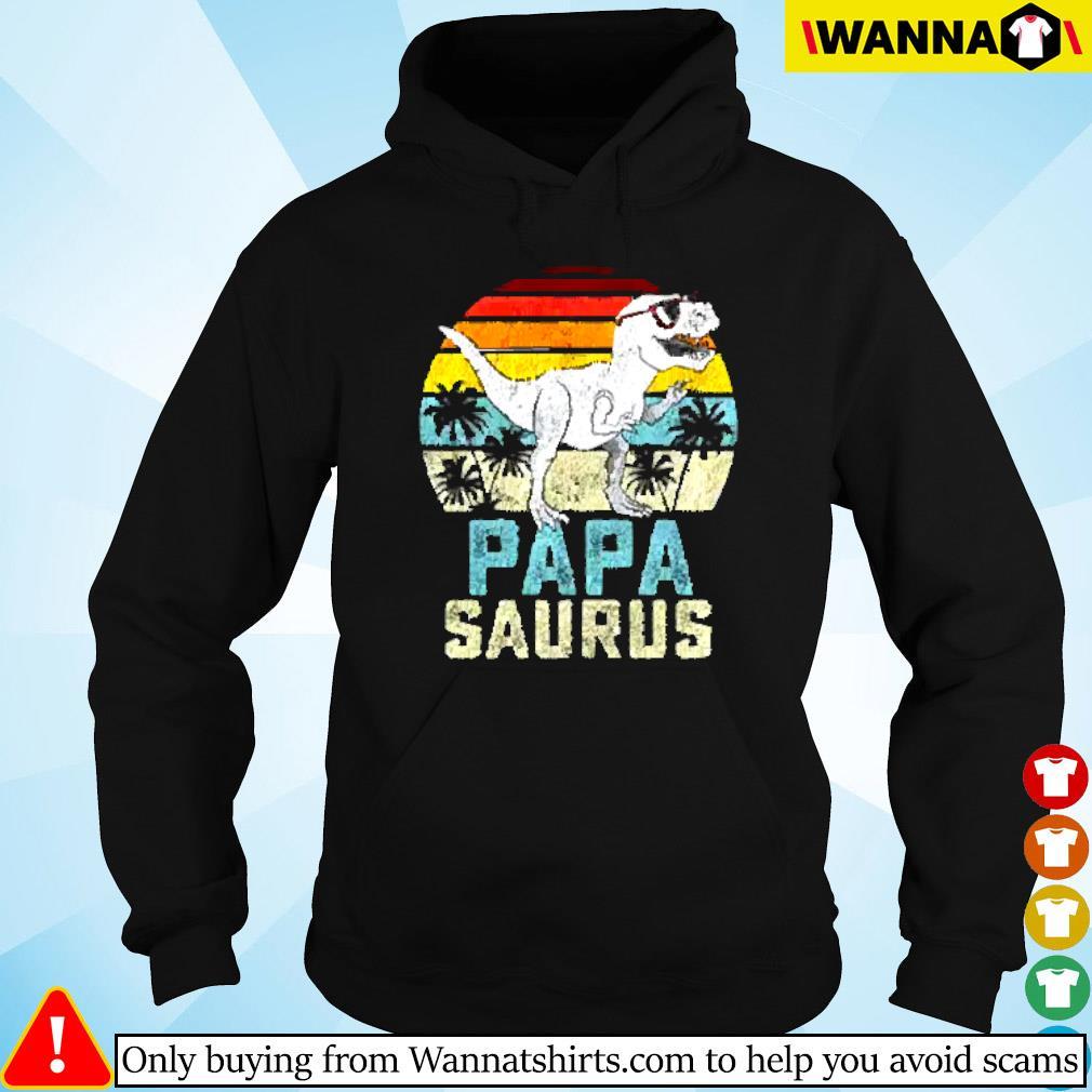Dinosaur Papa saurus vintage Hoodie