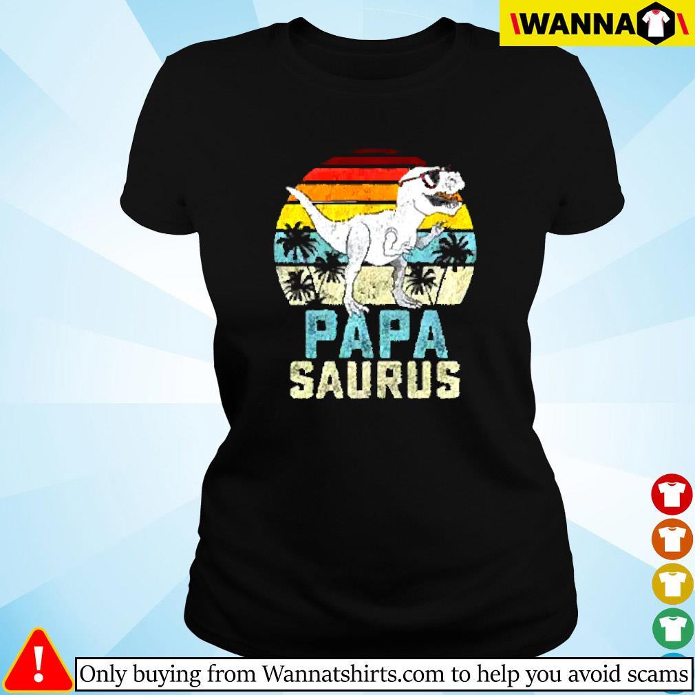 Dinosaur Papa saurus vintage Ladies tee