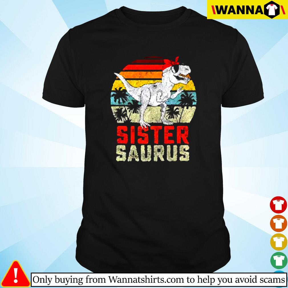 Dinosaur sister saurus vintage shirt
