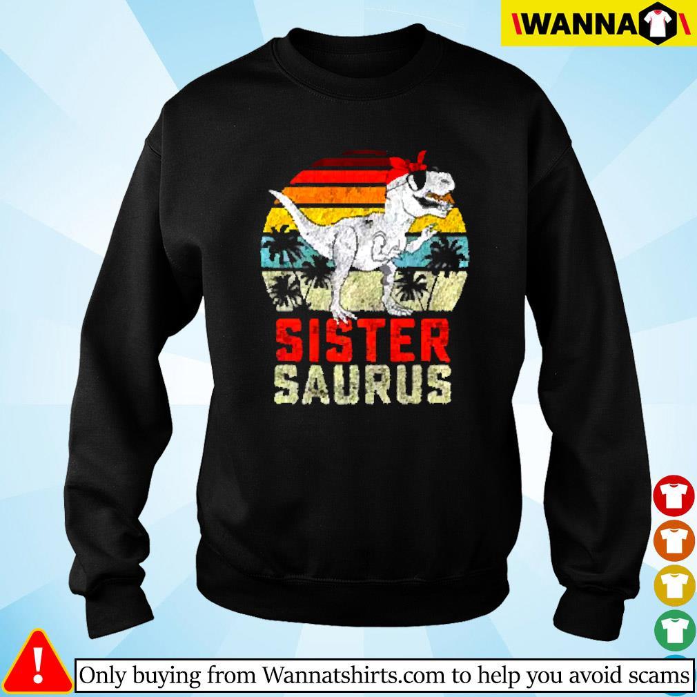 Dinosaur sister saurus vintage Sweater