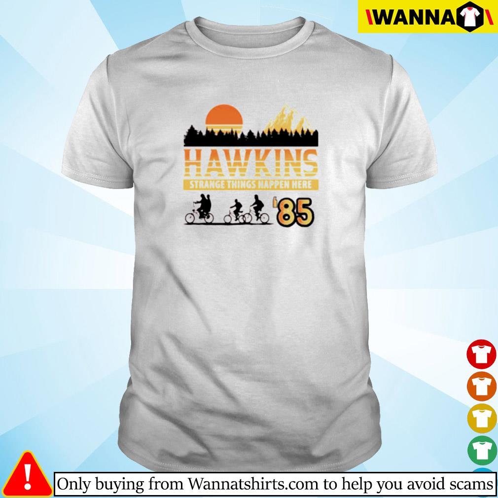Hawkins strange things happen here 85 shirt