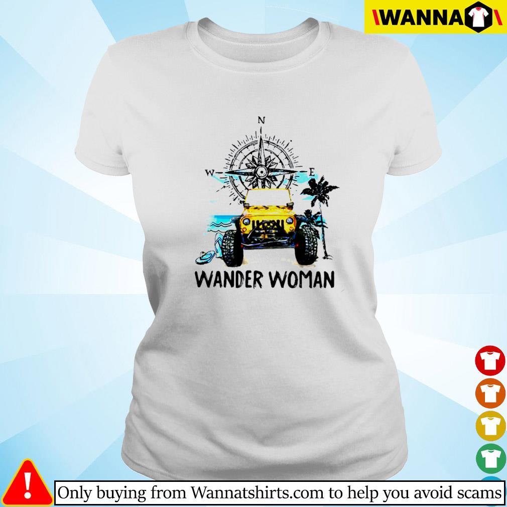 Jeep wander woman compass Ladies tee