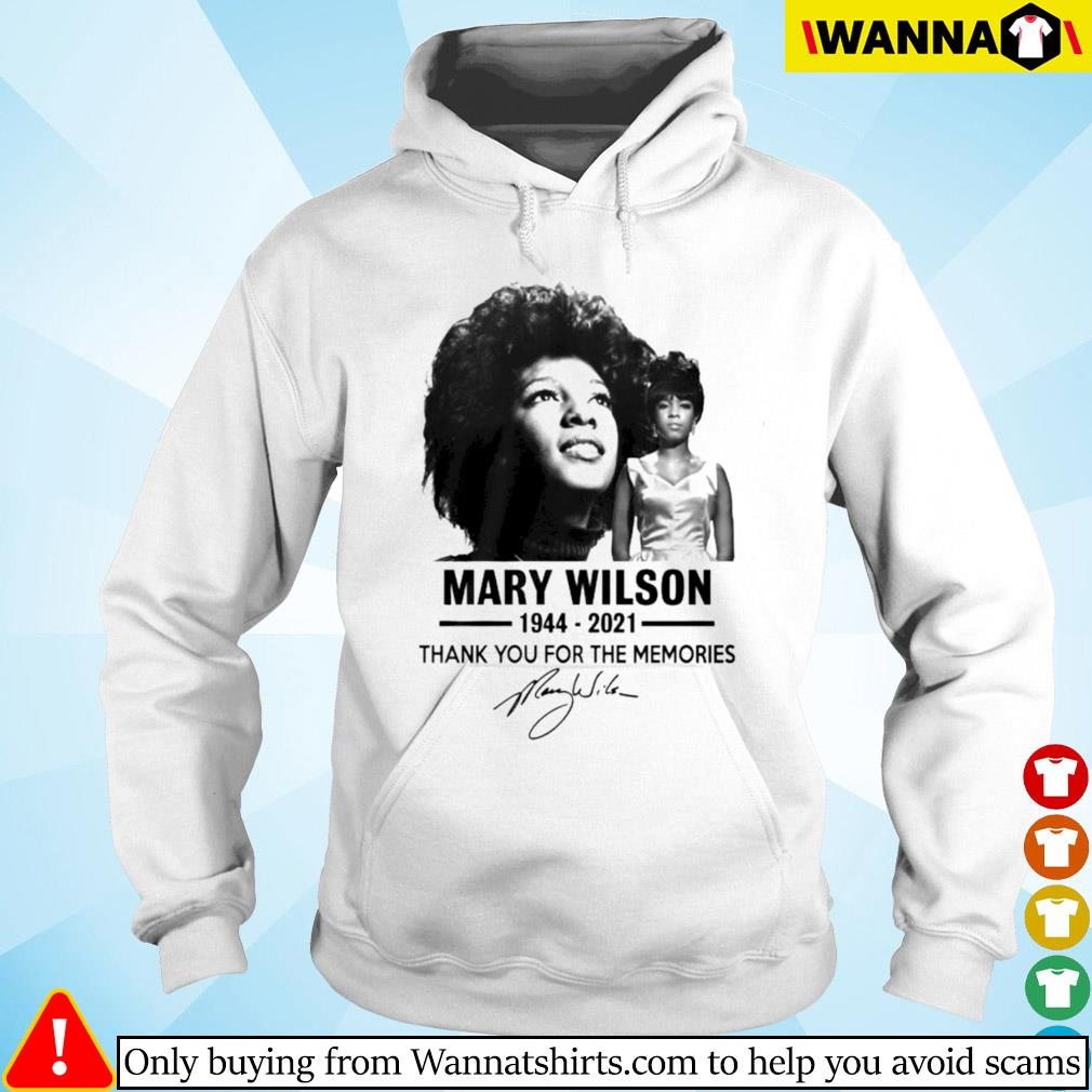 Mary Wilson 1944-2021 thank you for the memories signature Hoodie