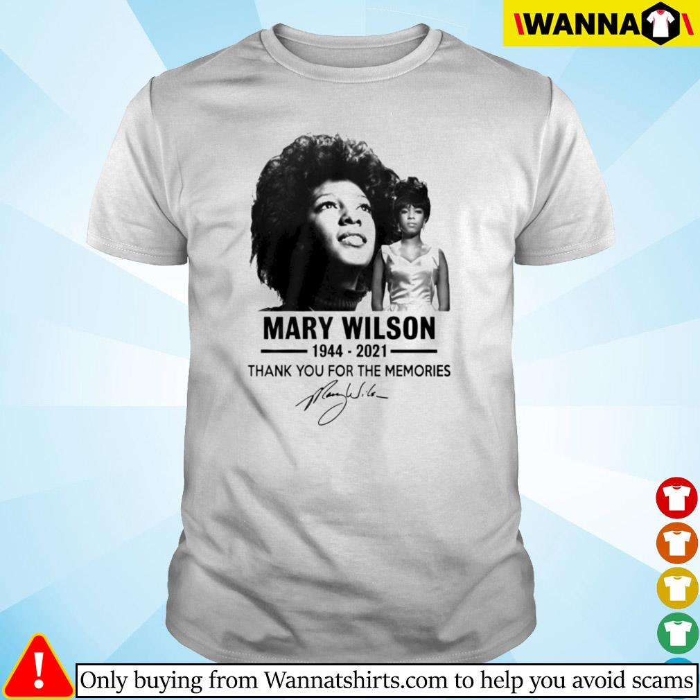 Mary Wilson 1944-2021 thank you for the memories signature shirt