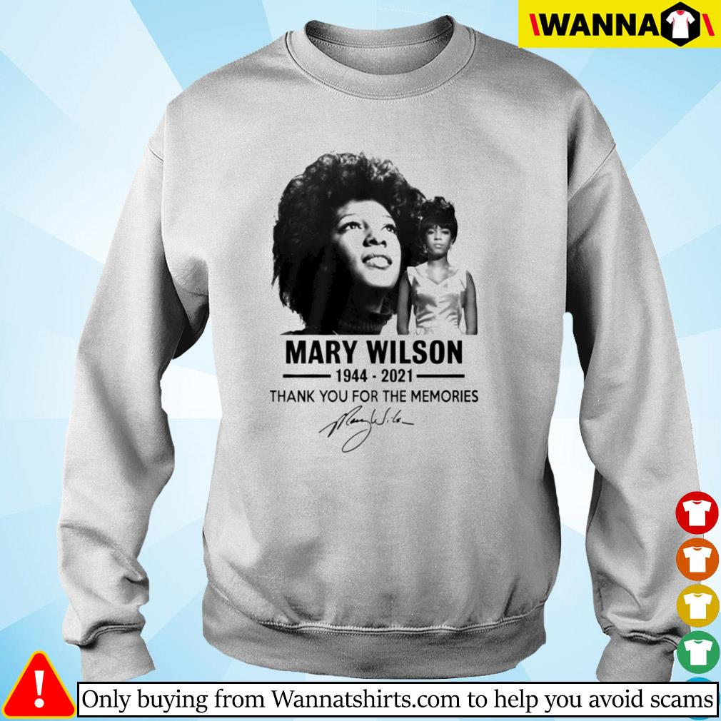 Mary Wilson 1944-2021 thank you for the memories signature Sweater