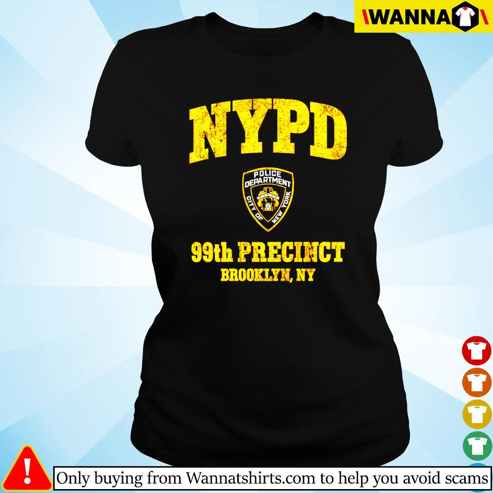 NYPD Police deparment city of 99th Precinct Brooklyn NY Ladies tee