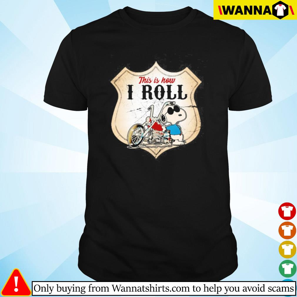 Snoopy motorcycle this is new I roll shirt