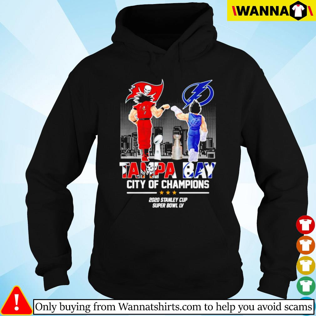 Son Goku and Vegeta Tampa Bay city of champions 2020 stanley cup super bowl LV Hoodie