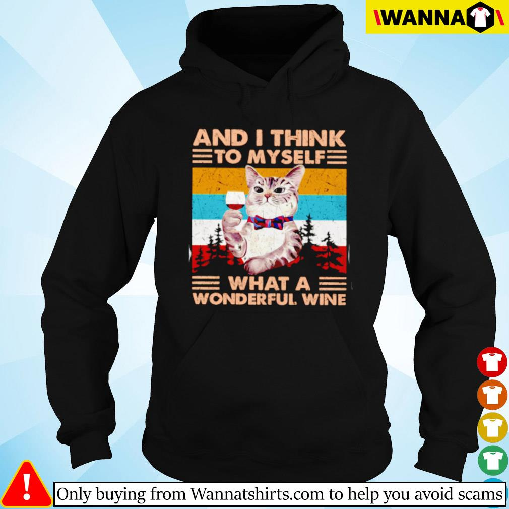 Vintage cat and i think to myself what a wonderful wine Hoodie