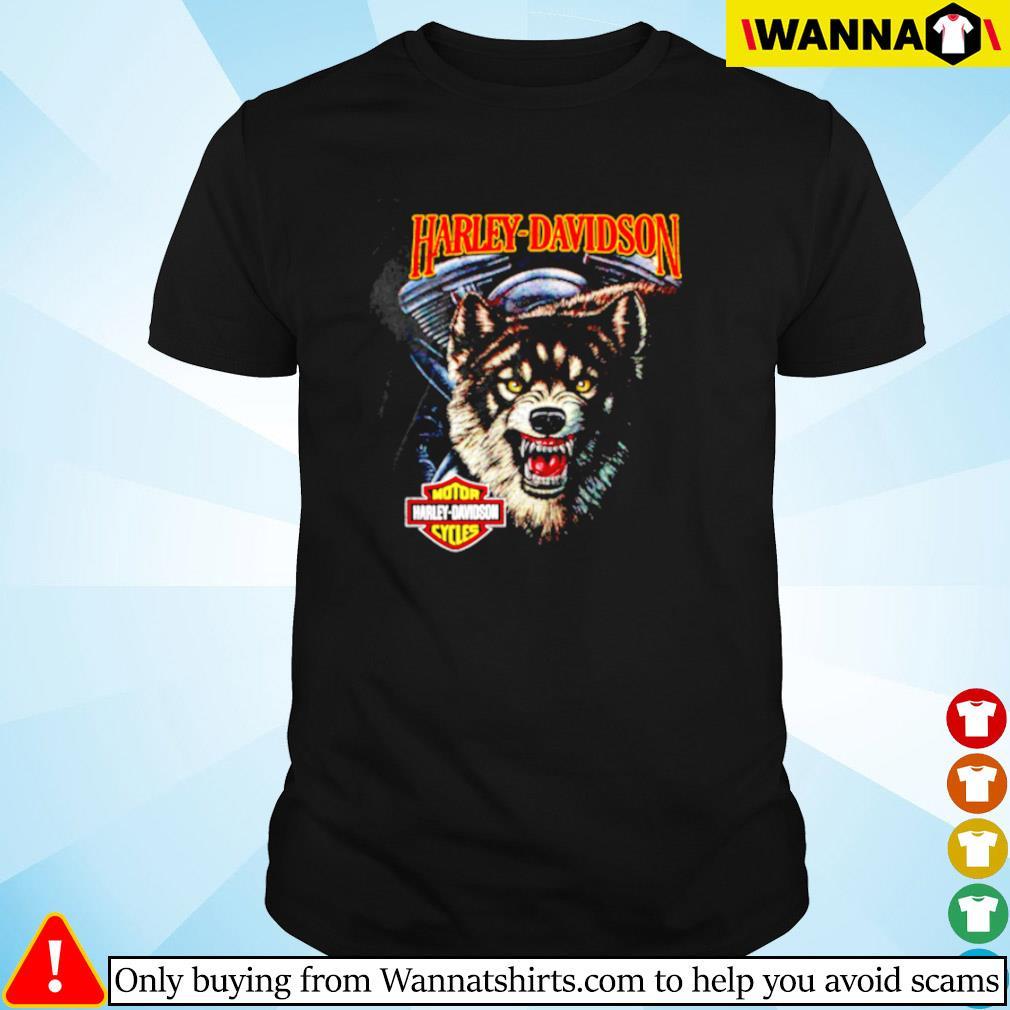 Wolf motor Harley-Davidson cycles shirt