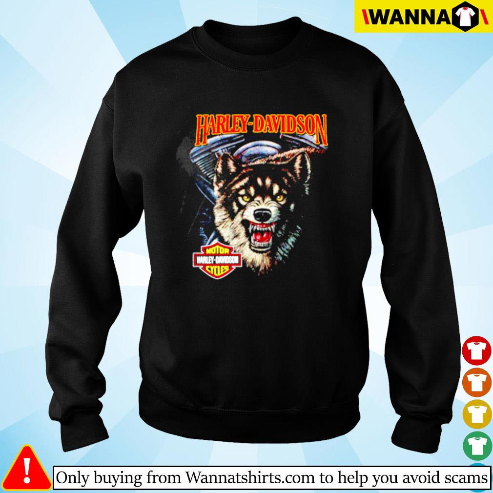 Wolf motor Harley-Davidson cycles Sweater