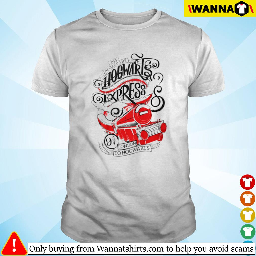 All aboard the Hogwarts express London to Hogwarts shirt