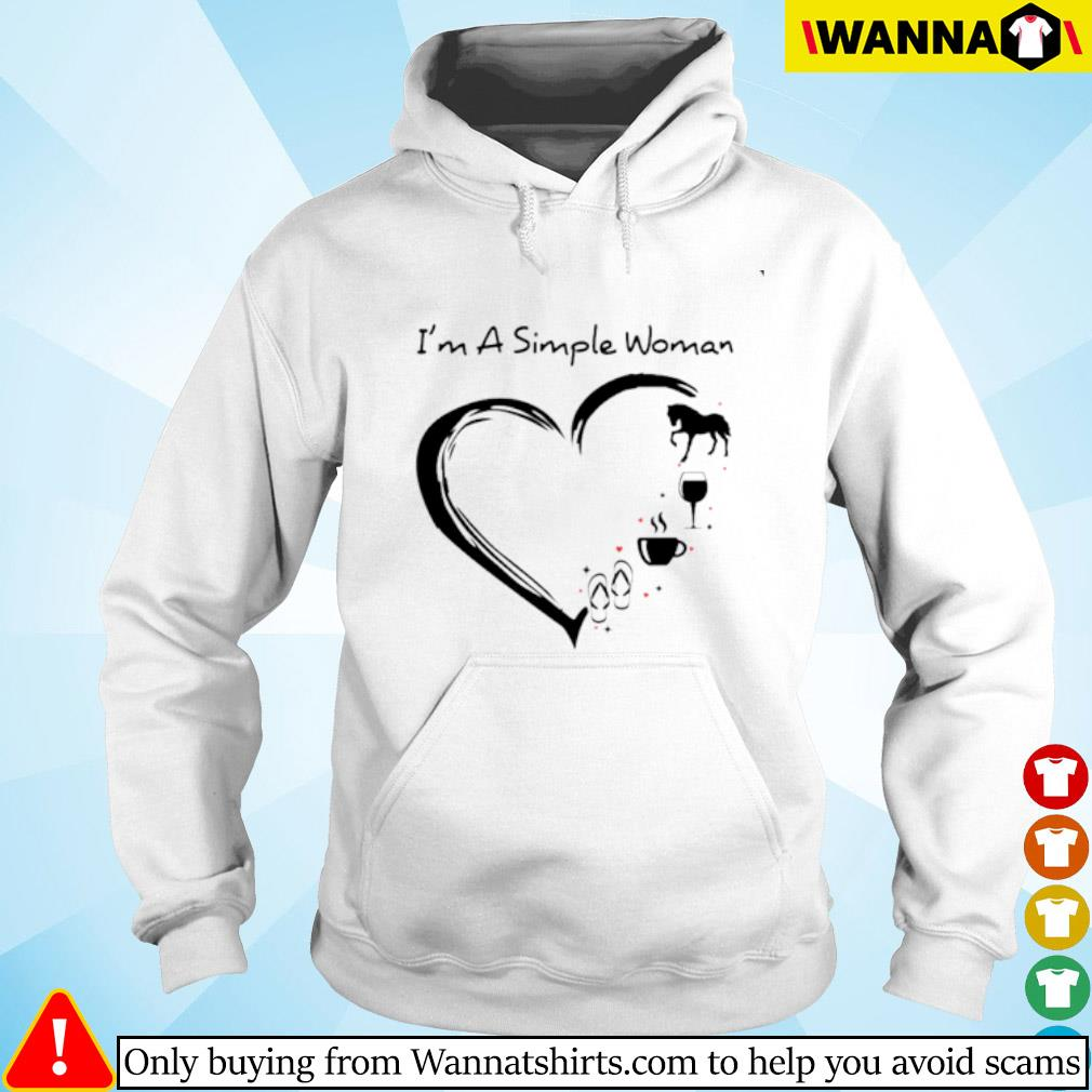 I'm a simple woman I love horse wine coffee flip flop Hoodie
