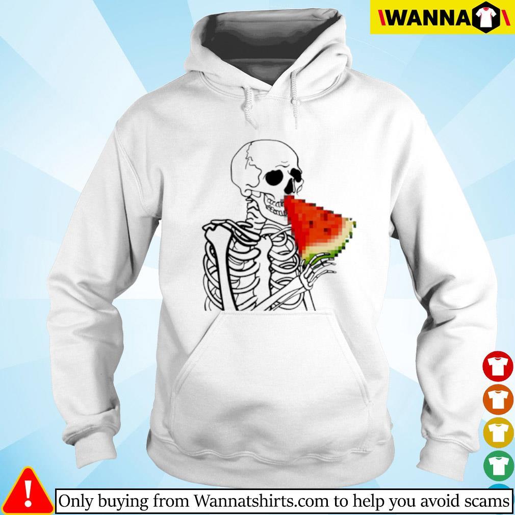 Skeleton eat Watermelon Hoodie