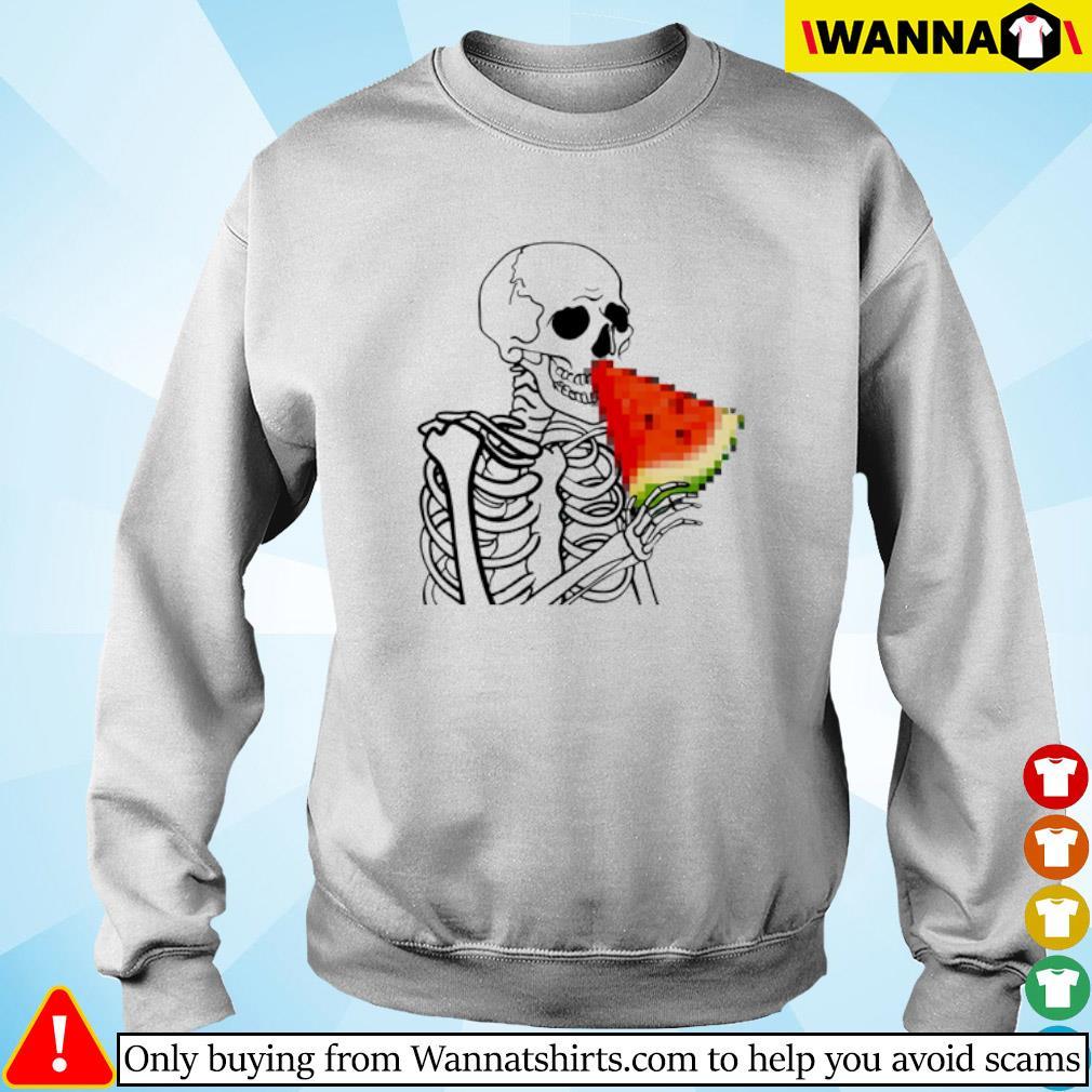 Skeleton eat Watermelon Sweater