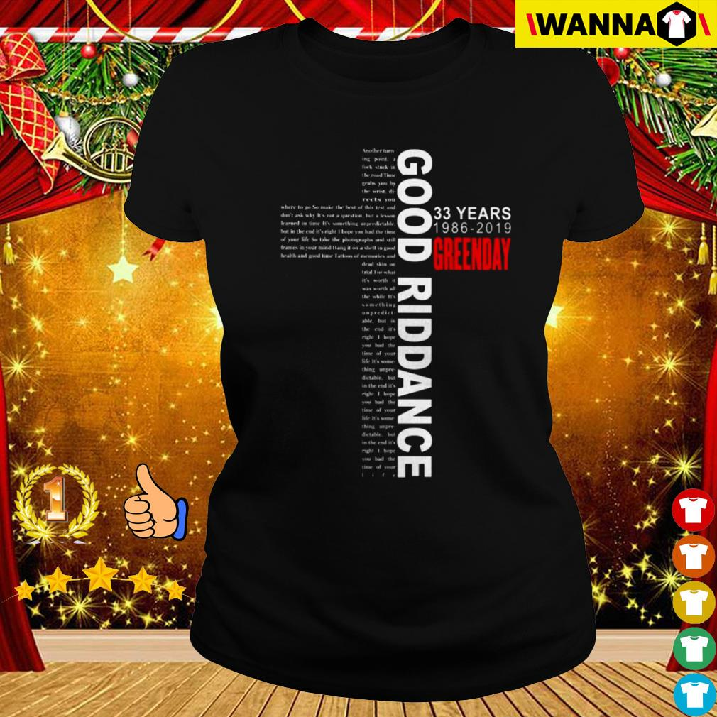 Green Day Christmas Sweater.33 Years Green Day 1986 2019 Good Riddance Shirt