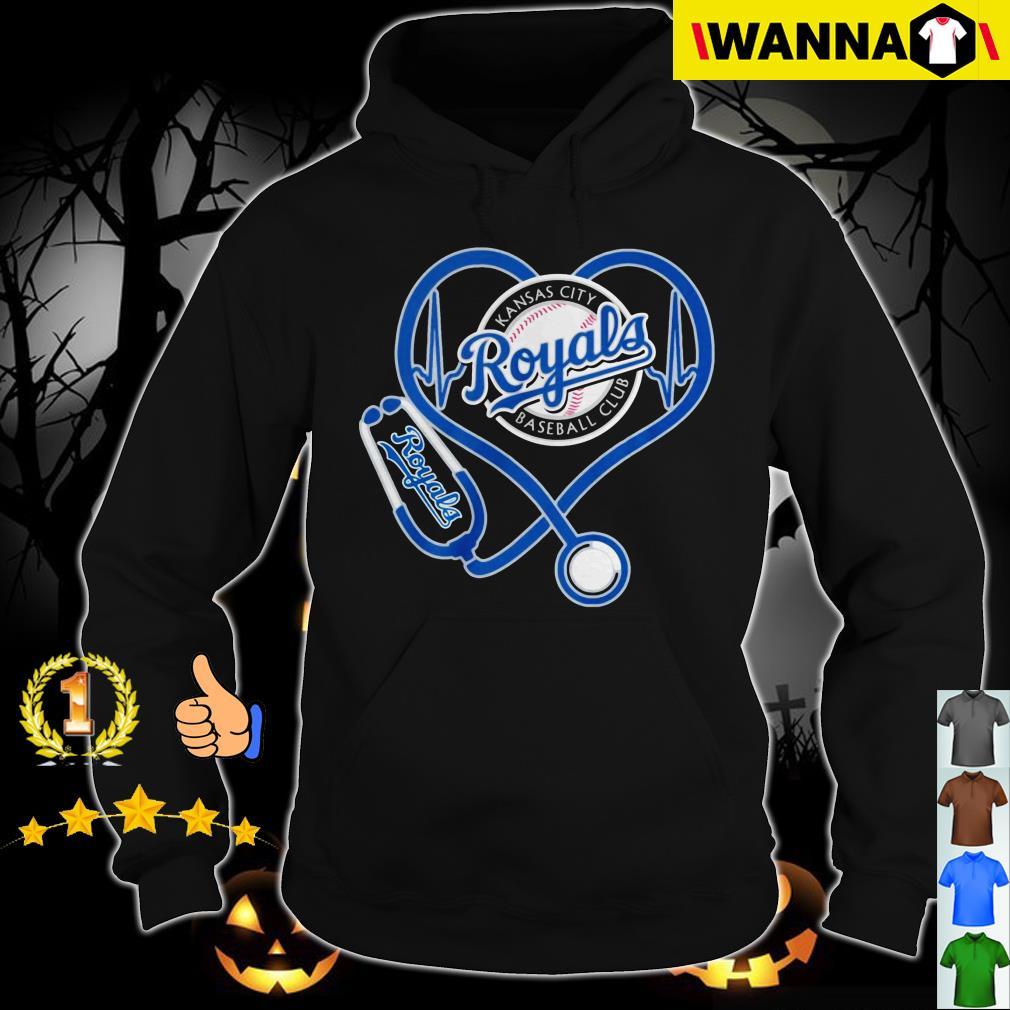 Heartbeat Nurse Love Kansas City Royals Shirt, Long