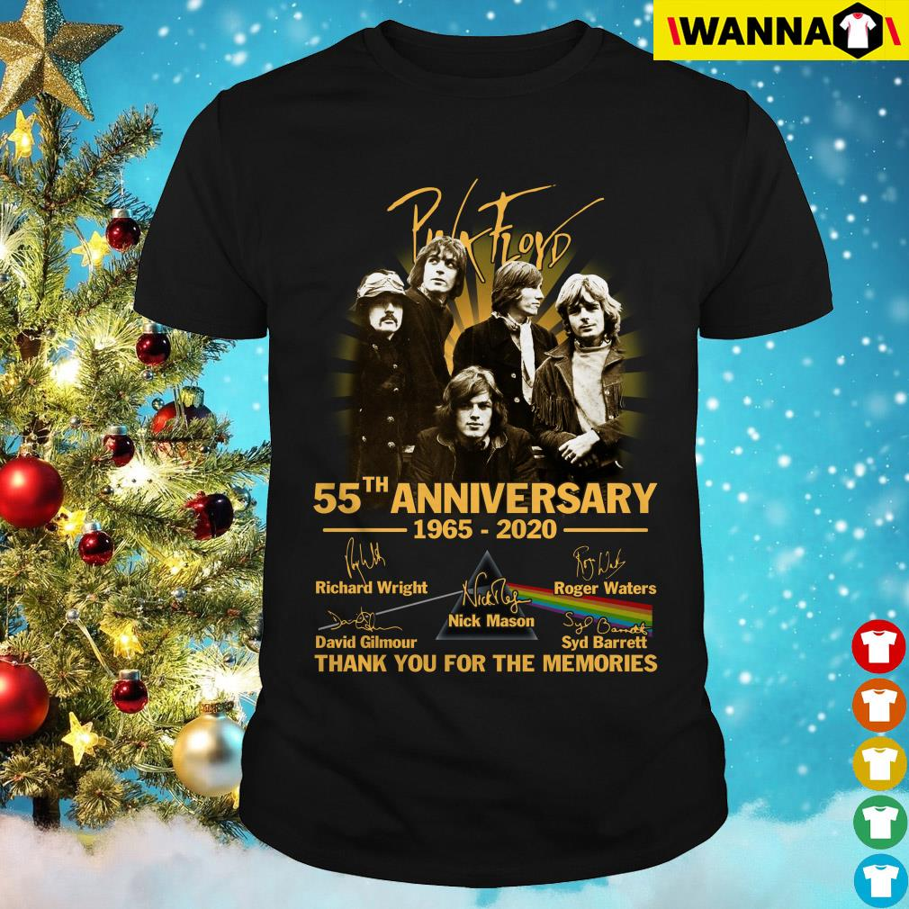 Pink Floyd 55th Anniversary 1965-2020 signatures thank you for the memories shirt