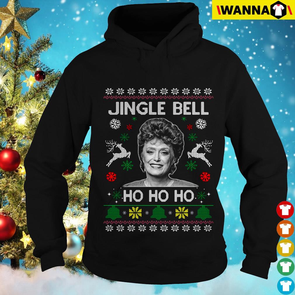 Rue McClanahan Jingle Bell Ho Ho Ho Christmas Hoodie