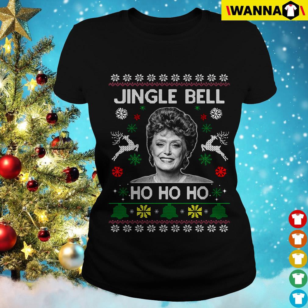Rue McClanahan Jingle Bell Ho Ho Ho Christmas Ladies Tee