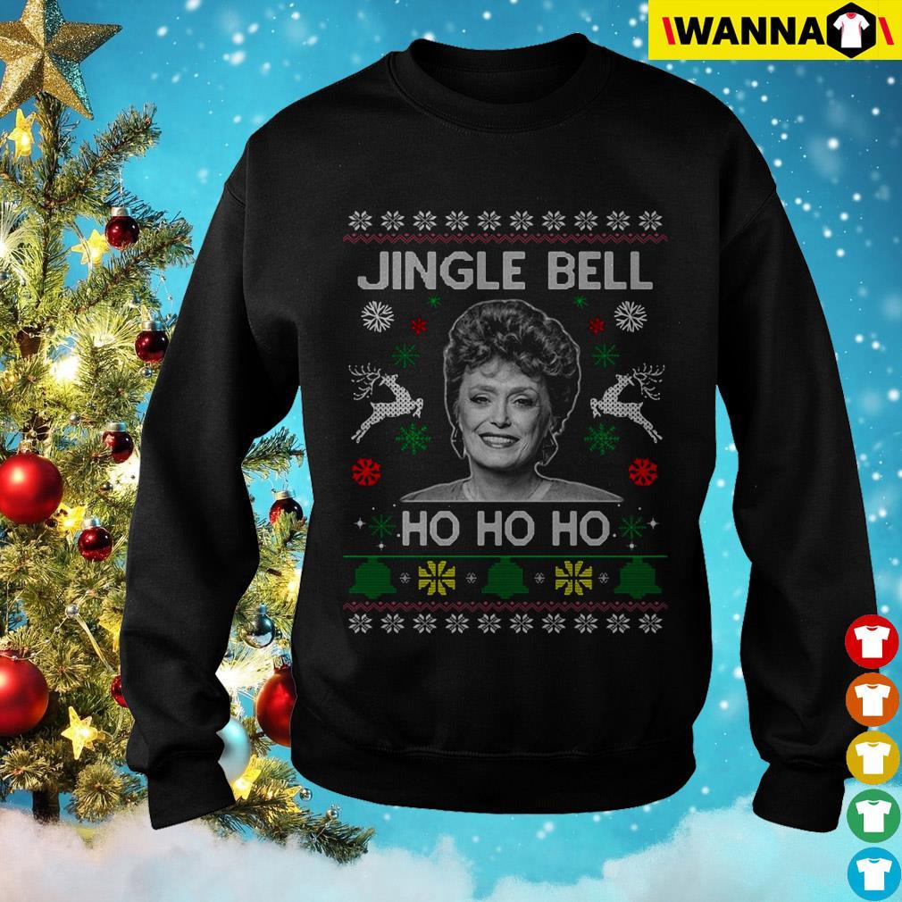 Rue McClanahan Jingle Bell Ho Ho Ho Christmas sweatshirt