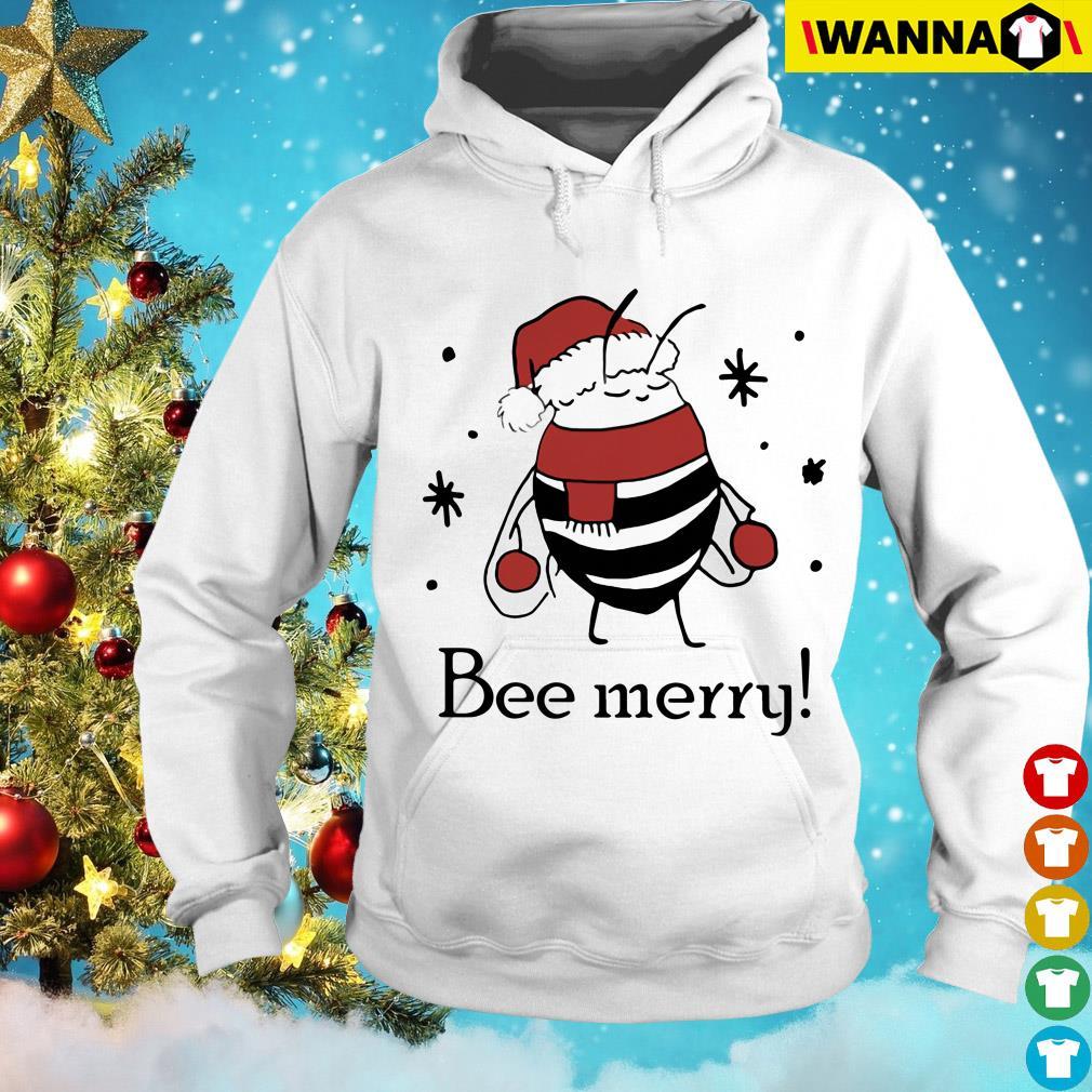 Santa Bee Merry Christmas Hoodie