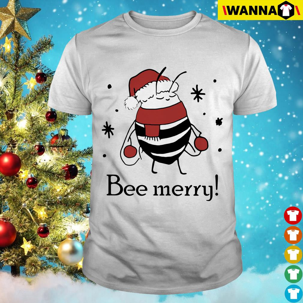Santa Bee Merry Christmas sweatshirt