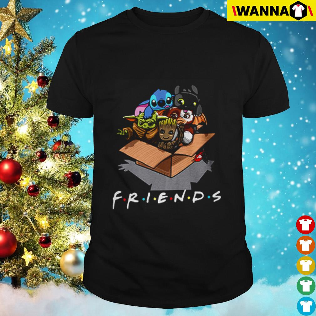 Baby stitch baby groot baby yoda baby toothless baby gremlin in the box shirt