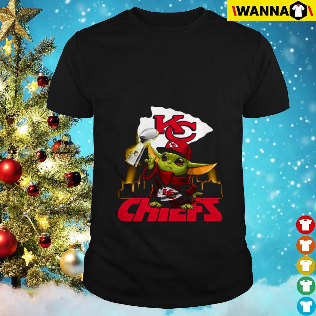 Baby Yoda Champion Kansas City Chiefs shirt