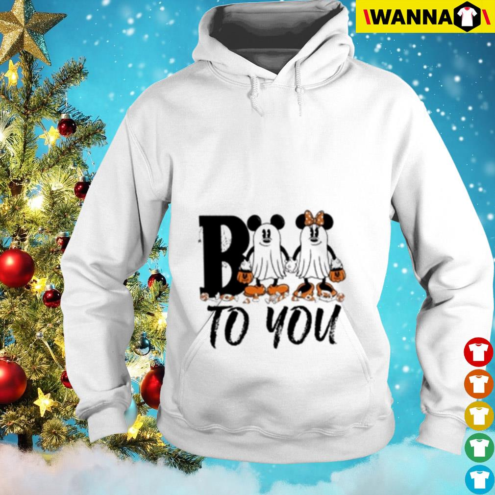 Minnie and Mickey Mouse ghost Boo to you Hoodie