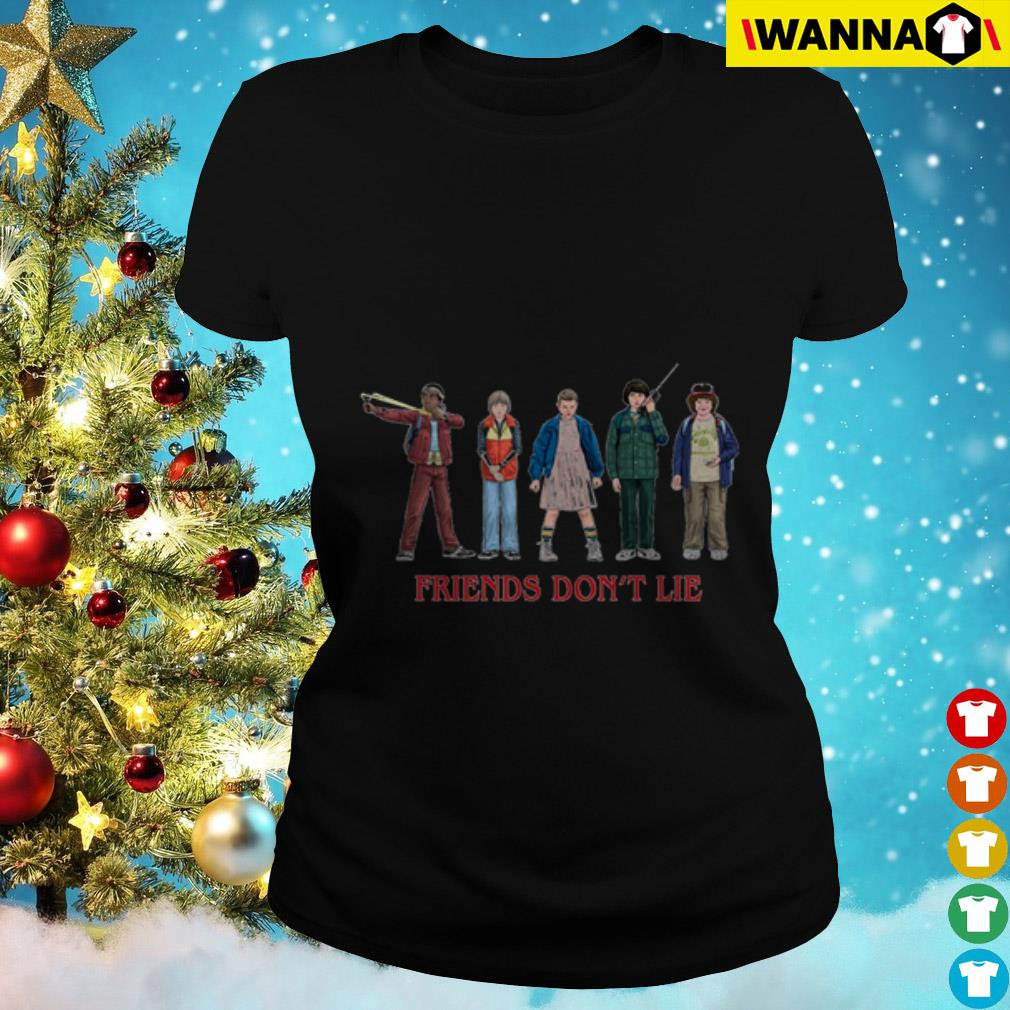Stranger Things Friends don't lie Ladies Tee