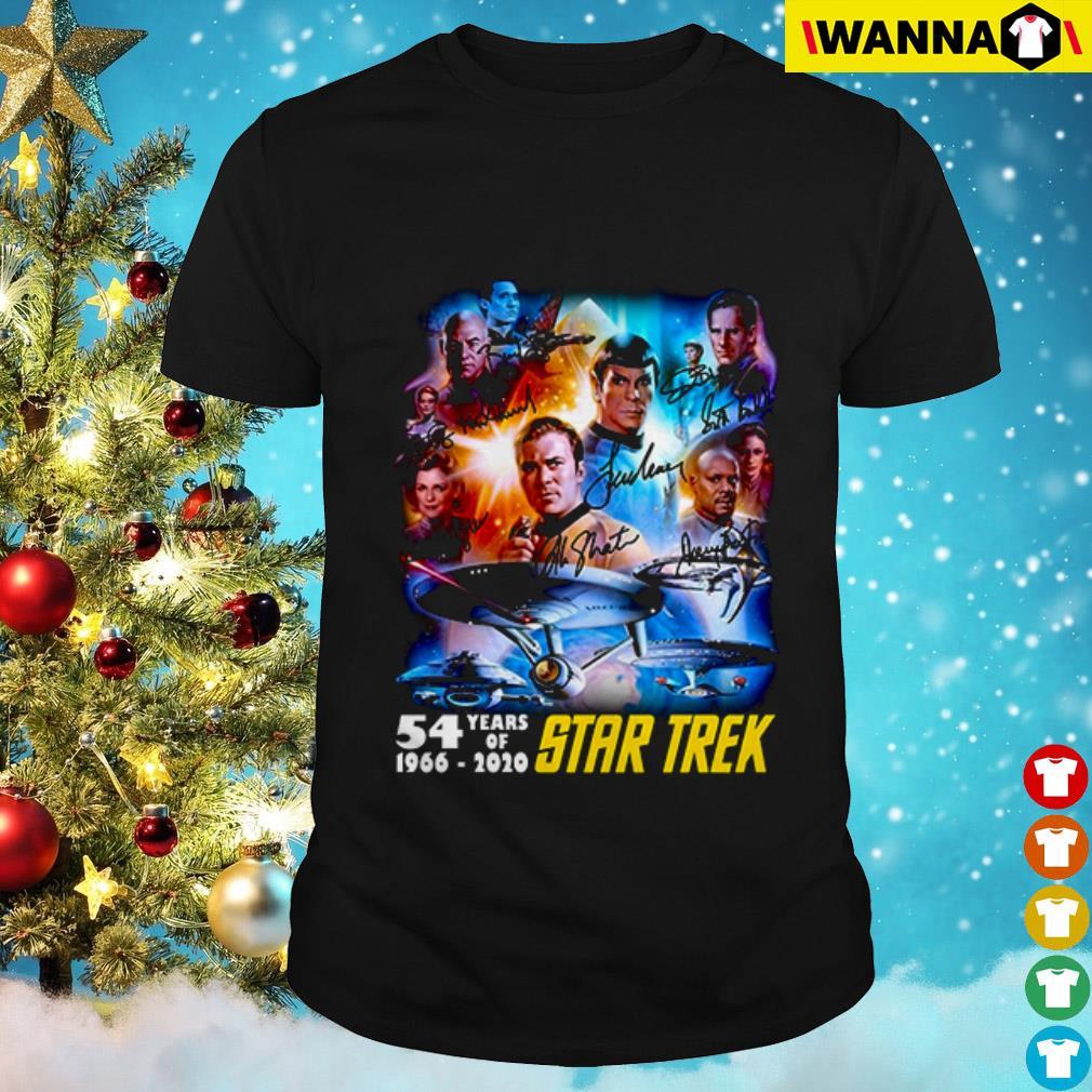 54 Years of Star Trek 1966-2020 all characters shirt
